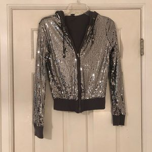 Forever 21 sequin hoodie